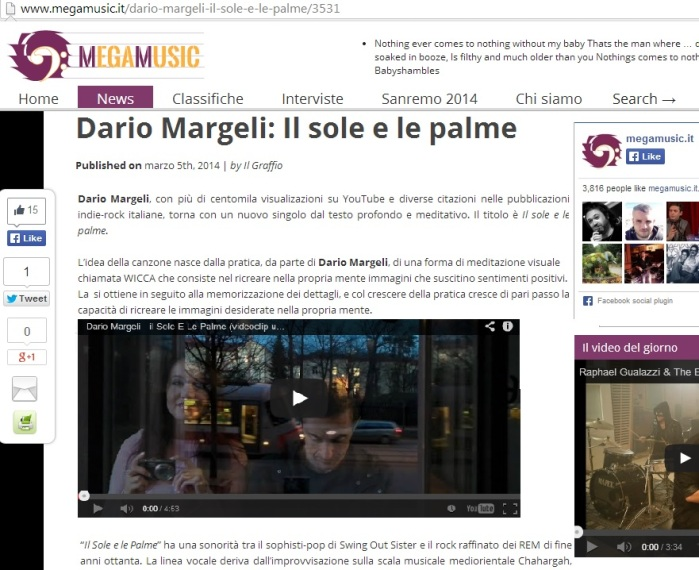 News nel giornale musical MegaMusic.It